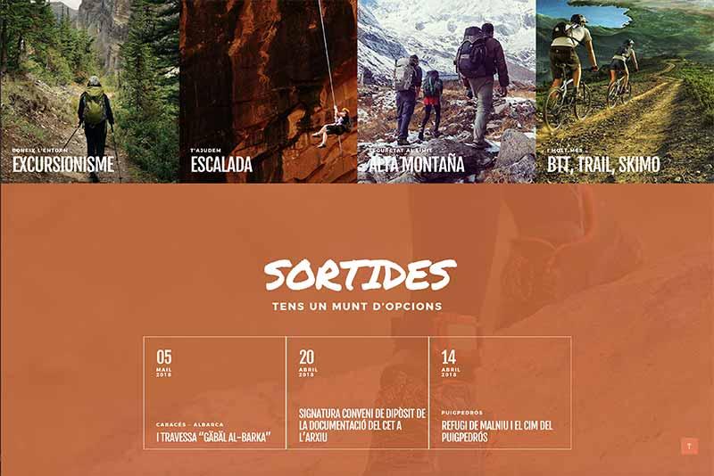 proyecto web de montaña salidas